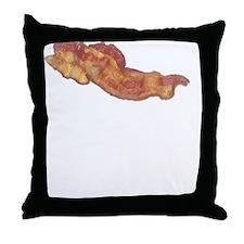 Bacon Or Wrong White Throw Pillow