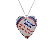 OldNixonButton250 Necklace Heart Charm