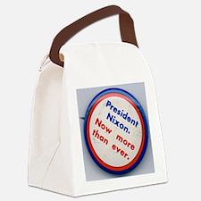 OldNixonButton250 Canvas Lunch Bag
