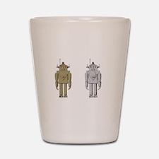 I Like Big Bots White Shot Glass