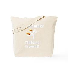 Non Flammable White Tote Bag