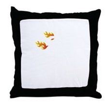 Non Flammable White Throw Pillow
