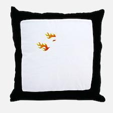 Non Flammable White Throw Pillow