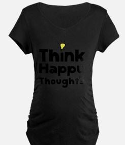 Think Happy Thoughts Black T-Shirt