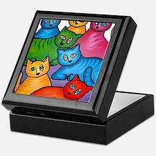 onecattwocat1 Keepsake Box