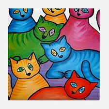 onecattwocat1 Tile Coaster