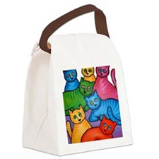 onecattwocat1 Canvas Lunch Bag