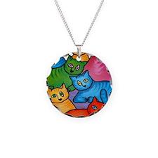 onecattwocat1 Necklace