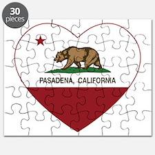 california flag pasadena heart Puzzle