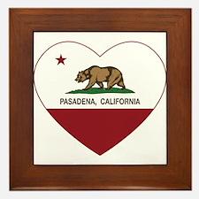 california flag pasadena heart Framed Tile