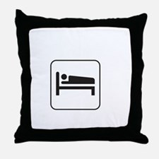 Today Cancelled White Throw Pillow