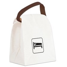 Today Cancelled White Canvas Lunch Bag