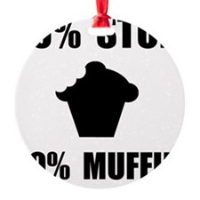 Mostly Muffin Black Ornament