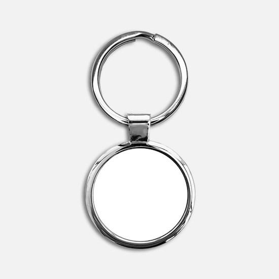 My ADD White Round Keychain