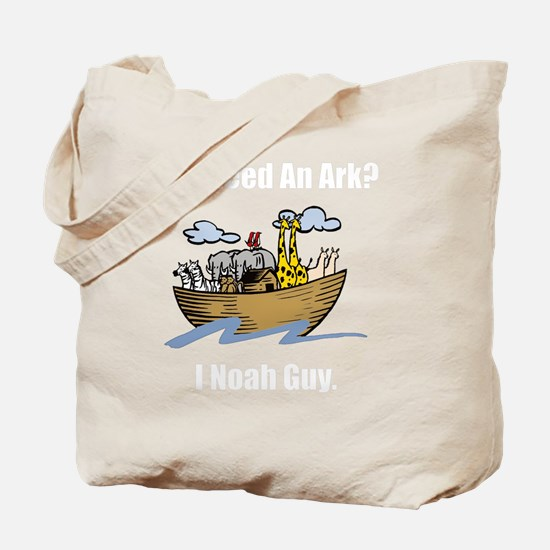 Noah Ark White Tote Bag