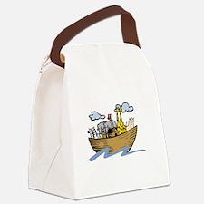 Noah Ark White Canvas Lunch Bag