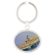 hancock framed panel print Oval Keychain