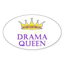 Drama Queen Oval Decal