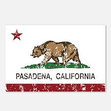 california flag pasadena distressed Postcards (Pac