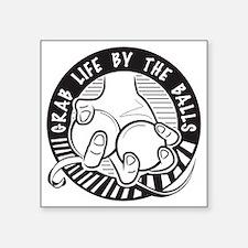 "GrabLifeBalls_logo Square Sticker 3"" x 3"""