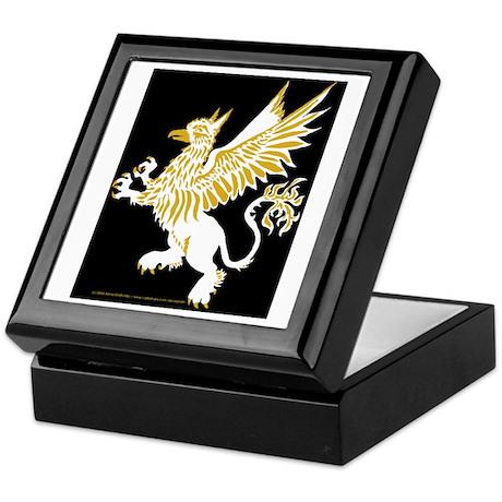 Graphic Gryphon White Gold Keepsake Box