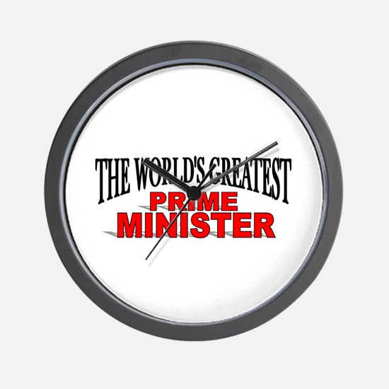 """""""The World's Greatest Prime Minister"""" Wall Clock"""