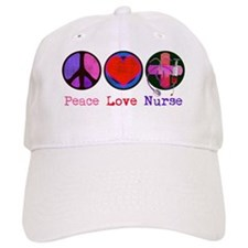 peace_love_nurse_1 Baseball Cap