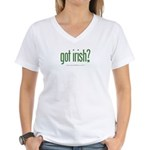 got irish? Women's V-Neck T-Shirt