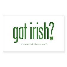 got irish? Rectangle Decal