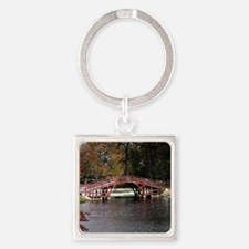 Elm Park Bridge, Worcester, Massac Square Keychain