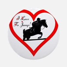 Heart_jump_iphone_trans Round Ornament