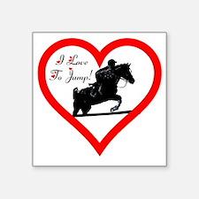 "Heart_jump_iphone_trans Square Sticker 3"" x 3"""