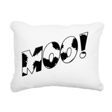Moo! Rectangular Canvas Pillow