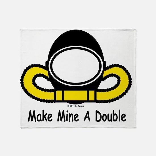 MakeMineDouble Throw Blanket