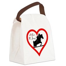 Heart_jump_trans Canvas Lunch Bag