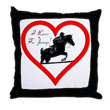 Heart_jump_trans Throw Pillow