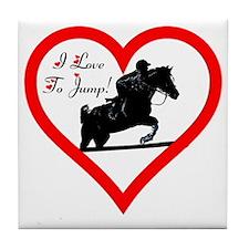Heart_jump_trans Tile Coaster
