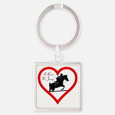 Heart_jump_home_decor_trans Square Keychain