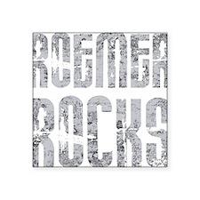 "RoemerRocks1Bk Square Sticker 3"" x 3"""