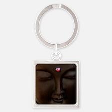Buddha with MG logo Square Keychain