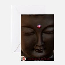 Buddha with MG logo Greeting Card