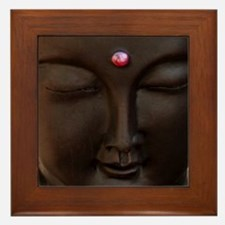 Buddha with MG logo Framed Tile