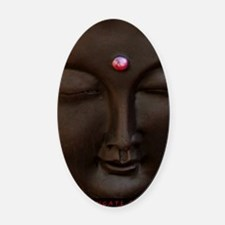 Buddha with MG logo Oval Car Magnet