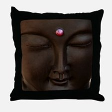 Buddha with MG logo Throw Pillow