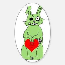 zombie bunnie_valentine Sticker (Oval)