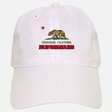 california flag oceanside distressed Baseball Baseball Baseball Cap