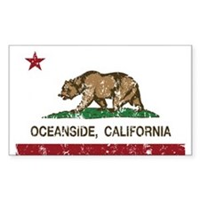 california flag oceanside distressed Decal