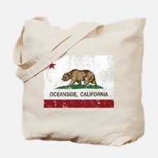 california flag oceanside distressed Tote Bag
