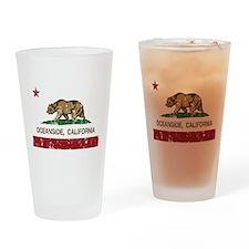 california flag oceanside distressed Drinking Glas