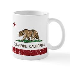 california flag oceanside distressed Mugs